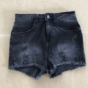 High waist black Zara denim shorts sz 04